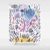 physics Shower Curtains featuring Quantum physics by Dreamy Me