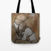 pilot Tote Bags featuring Pilot by Captain MaryJane