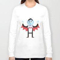 dracula Long Sleeve T-shirts featuring Dracula by Joe Pugilist Design