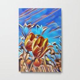 Abstract Tulips Metal Print