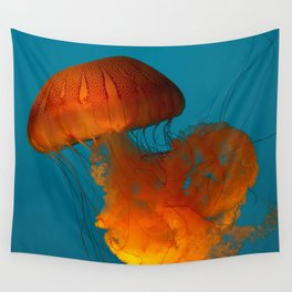 Jellyfish In The Blue... Wall Tapestry