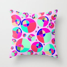 Bubble pink Throw Pillow