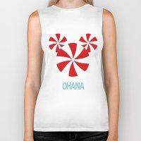 ohana Biker Tanks featuring Ohana Mickey by KaylaMessies