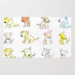 Little Cute Dogs Rug