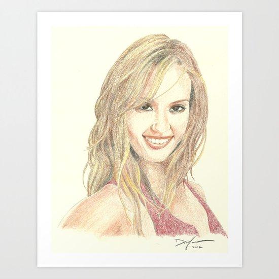Jessica Alba Art Print