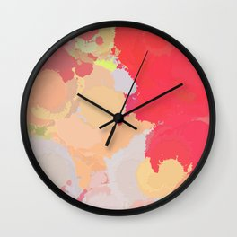 Red abstract splatter Wall Clock