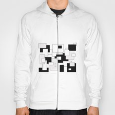 Squares - gray, black and white Hoody