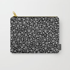 Flora Black Carry-All Pouch