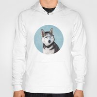 husky Hoodies featuring Mr Husky by Roberta Jean Pharelli