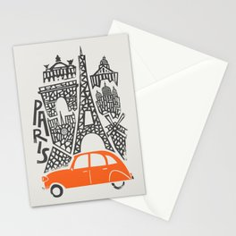 Paris Cityscape Stationery Cards