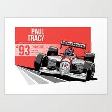 Paul Tracy - 1993 Cleveland Art Print