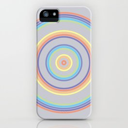 Ripples - Rainbow (Pastel) iPhone Case
