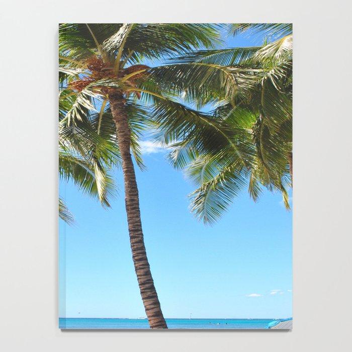 Palm Tree with Hawaii Summer Sea Beach Notebook