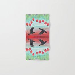 crows, tulips, & snails Hand & Bath Towel