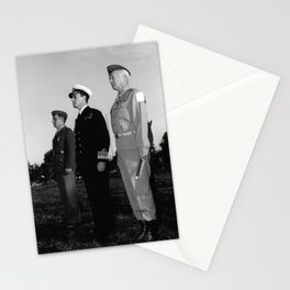 General Patton and Admiral Mountbatten During Medal Ceremony - 1943 Stationery Cards