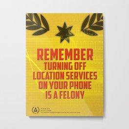 Dystopian propaganda III Metal Print