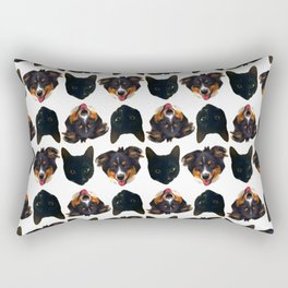 Max and Louie Rectangular Pillow