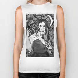 Hunter Behind The Mask - Black and White Biker Tank