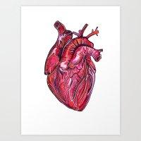 romance Art Prints featuring Romance by Adam McDade