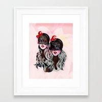 gemini Framed Art Prints featuring Gemini by Felicia Atanasiu