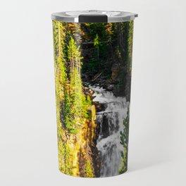 Beartooth Wilderness Montana Waterfall Print Travel Mug