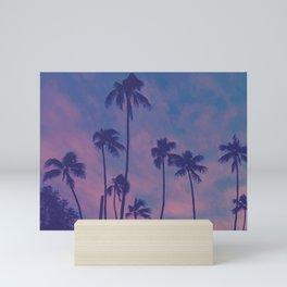 Sunset Palms Mini Art Print