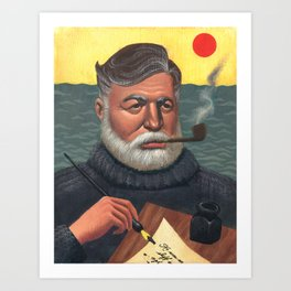 Hemingway Art Print