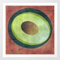 avocado Art Prints featuring Avocado by Red Coat Studio Design