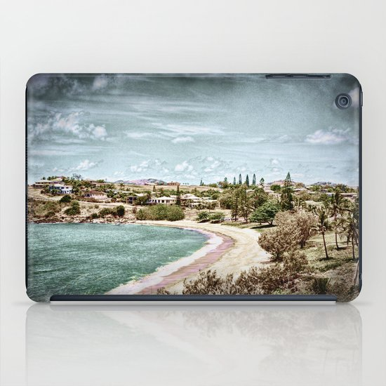 Living by the ocean iPad Case