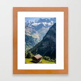 The Swiss Alps Framed Art Print