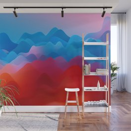 Wavey Hills Wall Mural