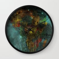 africa Wall Clocks featuring Africa by  Agostino Lo Coco