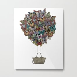 Valentino Butterfly Bag Metal Print
