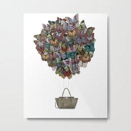 Valentino Butterfly Bag Metal Print
