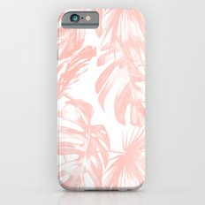 Perfect Pink Tropical Palm Leaves Slim Case iPhone 6s