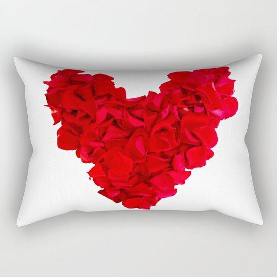heart shape, rose petals Rectangular Pillow