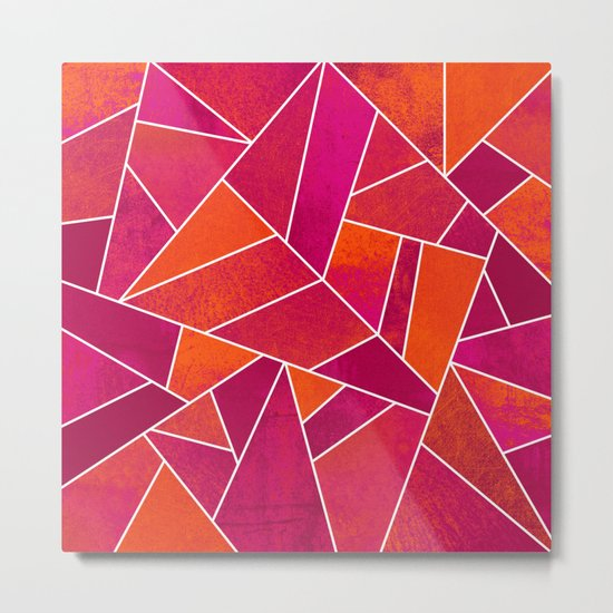 Hot Pink & Orange stone Metal Print