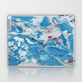 Marble art : Blue wind Laptop & iPad Skin