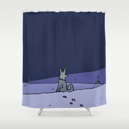 Three Dog Night - Winter Shower Curtain