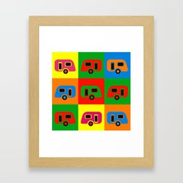 Caravan Pop Art Framed Art Print