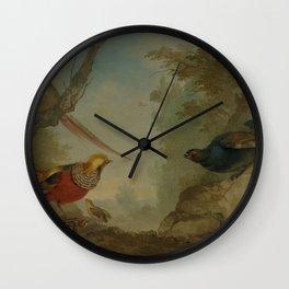 Aert Schouman - Pheasants Wall Clock