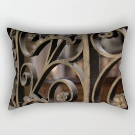 Fer forge at Notre Dame de Paris Rectangular Pillow