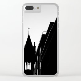 Boston Silhouette Clear iPhone Case