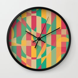 Abstract Graphic Art - Contemporary Music Wall Clock