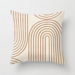 GEOMETRIC LINES 11 Throw Pillow