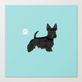 scottish terrier scotties funny farting dog breed pure breed pet gifts Canvas Print