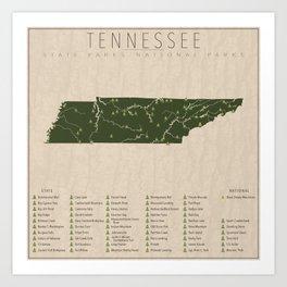 Tennessee Parks Art Print