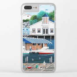 Laughing Gulls Landing Clear iPhone Case