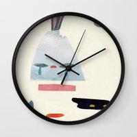 volacno and moon Wall Clock