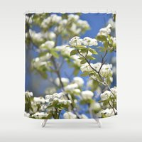 flight Shower Curtains featuring Flight by Lisa Argyropoulos